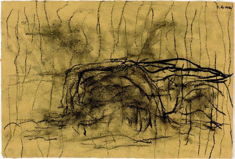 B. N., 2012, oglje, papir / charcoal, paper, 28 x 42 cm