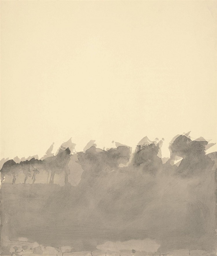 Krajina / Landscape / Landschaft, 1979, akvarel / watercolour / Aquarell, 77 x 65 cm