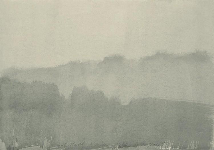 Krajina / Landscape / Landschaft, 1980, akvarel / watercolour / Aquarell, 70 x 100 cm