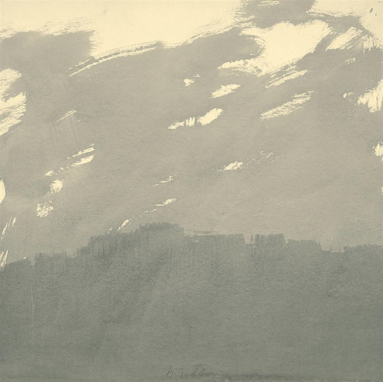 Krajina / Landscape / Landschaft, 1981, akvarel / watercolour / Aquarell, 71 x 71 cm