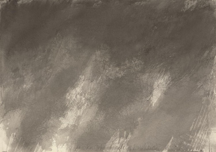 Poizkus total akvarela / The Total Watercolour Experiment /Versuch eines Totalaquarells, 1981, akvarel / watercolour / Aquarell, 70,5 x 100 cm