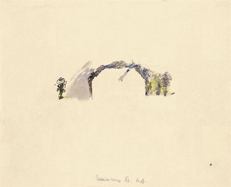 Reminiscence / Reminiscences / Reminiszenzen, 1982, akvarel / watercolour / Aquarell, 40 x 50 cm