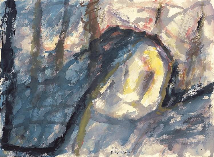 Reminiscence / Reminiscences / Reminiszenzen, 1987, akvarel / watercolour / Aquarell, 50 x 67,5 cm