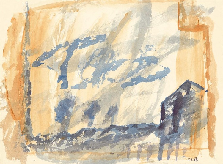 Reminiscence / Reminiscences / Reminiszenzen, 1989, akvarel / watercolour / Aquarell, 50 x 67 cm