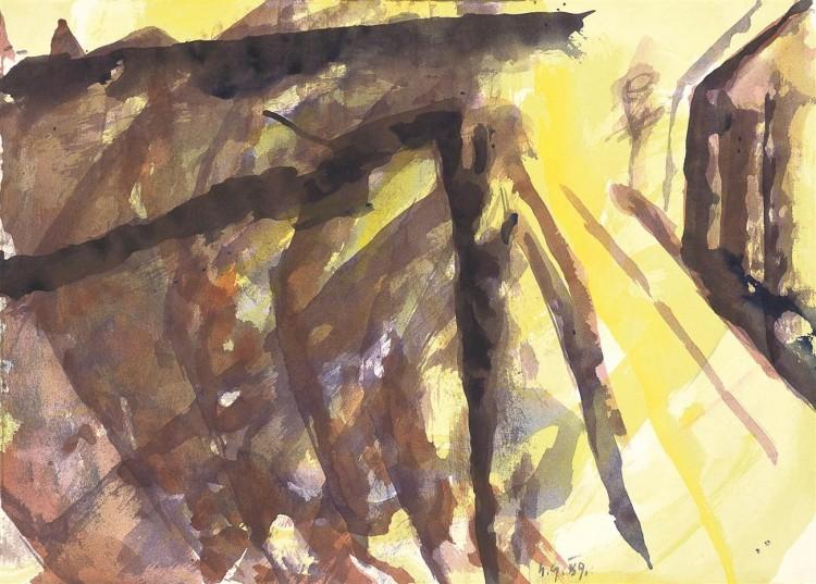Reminiscence / Reminiscences / Reminiszenzen, 1989, akvarel / watercolour / Aquarell, 42 x 58,5 cm
