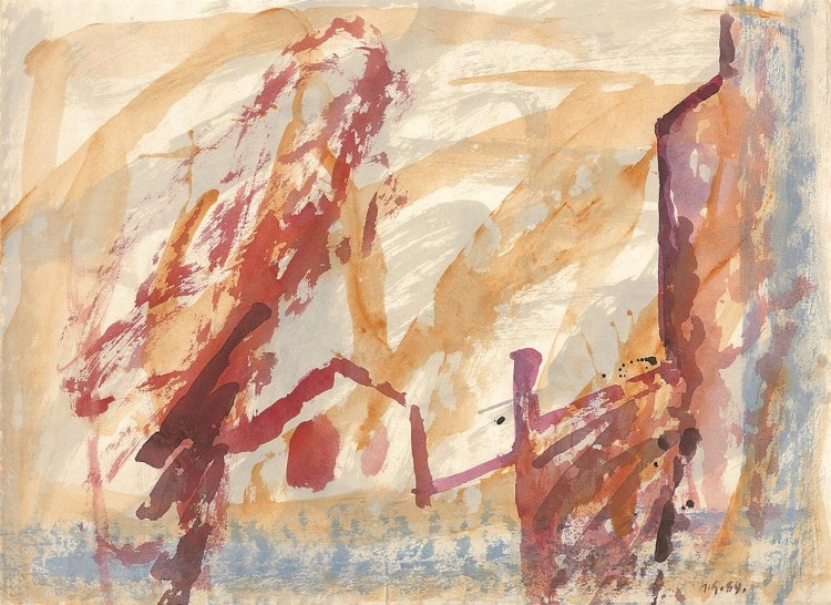 Reminiscence / Reminiscences / Reminiszenzen, 1989, akvarel / watercolour / Aquarell, 49,5 x 67,5 cm