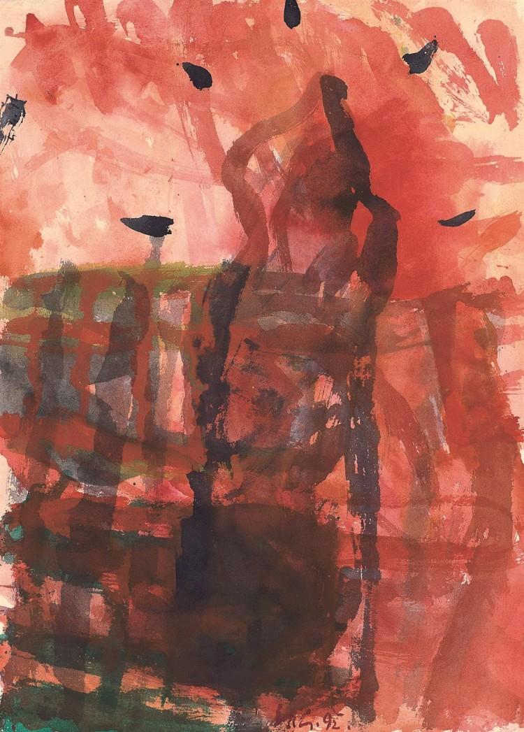 B.N., 1992, akvarel / watercolour / Aquarell, 60 x 43 cm
