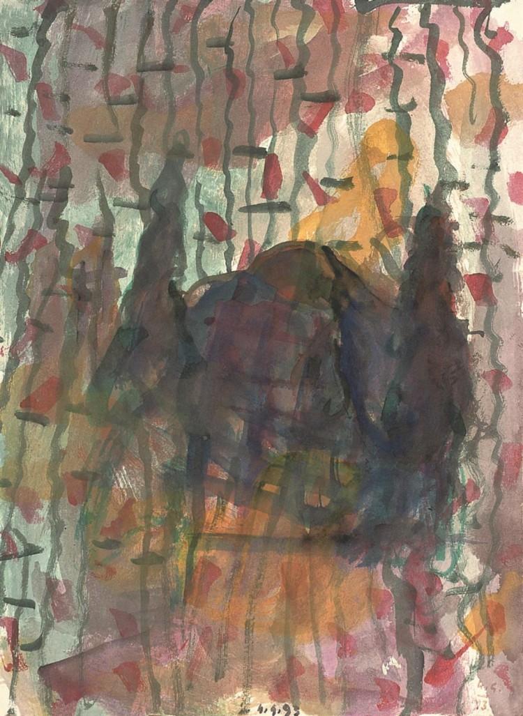 B.N., 1993, akvarel / watercolour / Aquarell, 43 x 32 cm