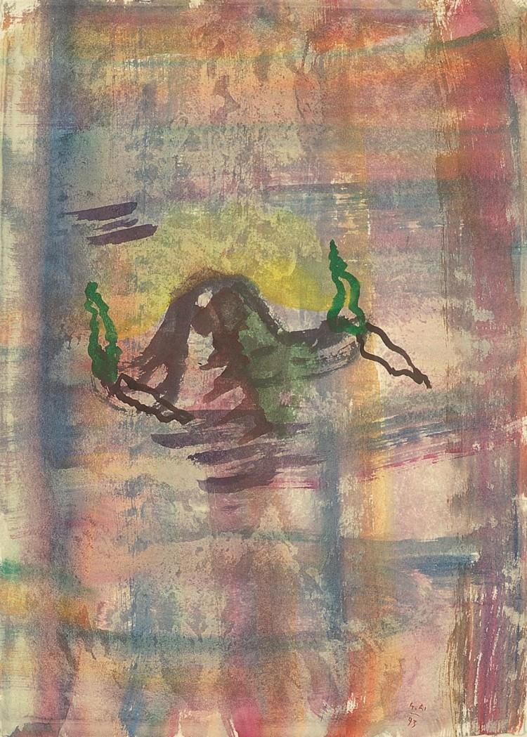 rajina / Landscape / Landschaft, 1993, akvarel / watercolour / Aquarell, 67 x 50 cm