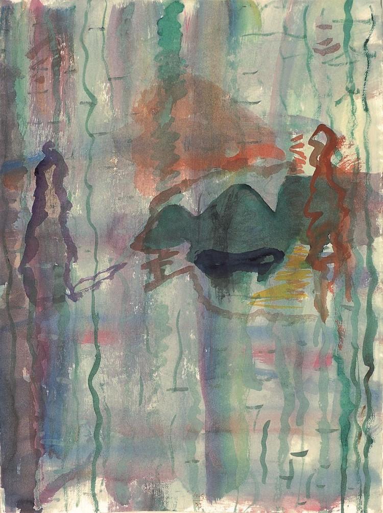 Krajina / Landscape / Landschaft, 1993, akvarel / watercolour / Aquarell, 67 x 50 cm