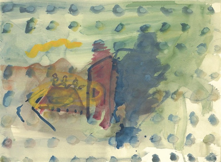 Zasavske pravljice / Zasavje stories / Zasavje Märchen, 1993, akvarel / watercolour / Aquarell, 55,5 x 75,5 cm