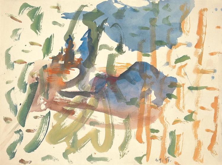 Zasavske pravljice / Zasavje stories / Zasavje Märchen, 1993, akvarel / watercolour / Aquarell, 53 x 70 cm