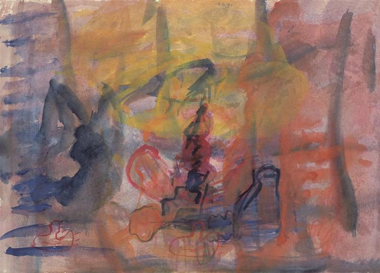 Reminiscence / Reminiscences / Reminiszenzen, 1993, akvarel / watercolour / Aquarell, 44,5 x 61 cm