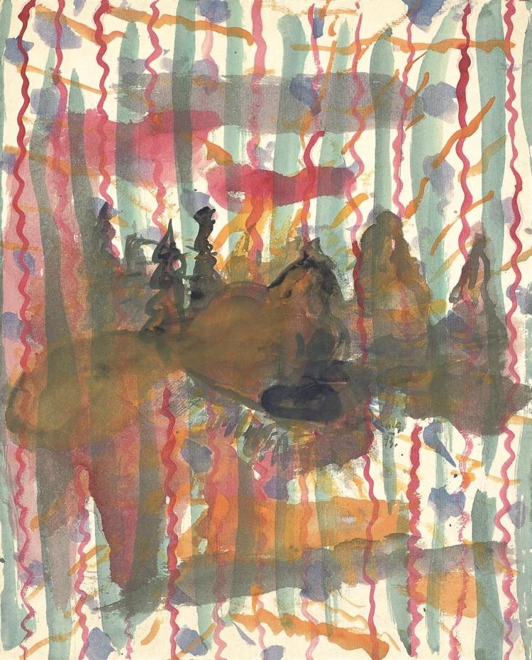 B.N., 1993, akvarel /watercolour / Aquarell, 49,5 x 40 cm