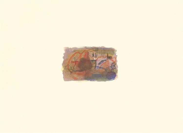 Pesmi za Nico / Songs for Nico / Lieder für Nico, 1995, akvarel / watercolour / Aquarell, 44 x 60 cm