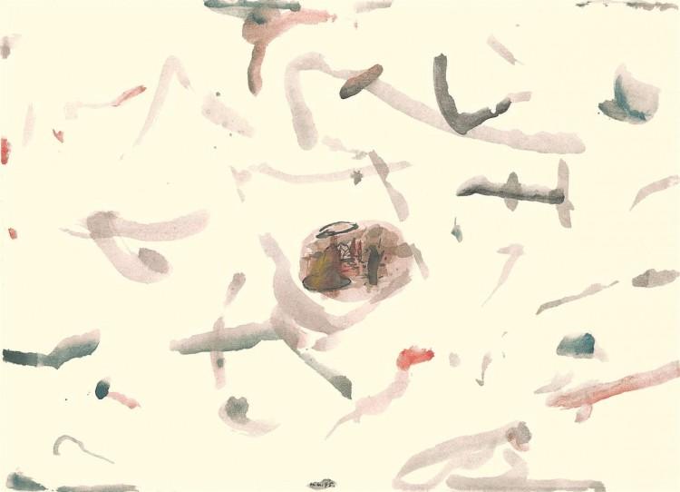 A.L.V.N., 1995, akvarel / watercolour / Aquarell, 42,5 x 58,5 cm