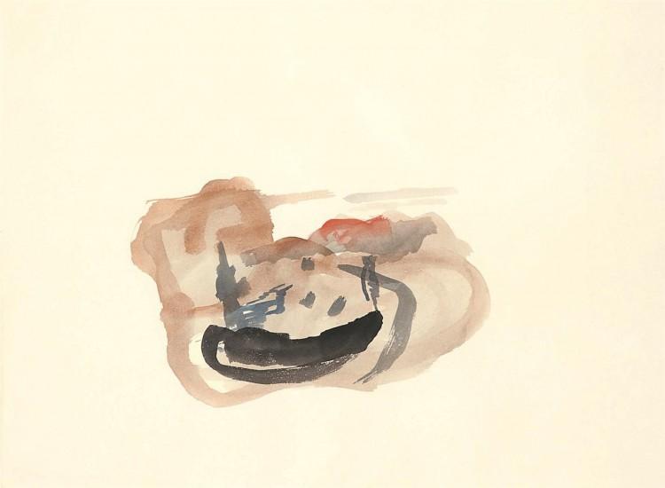 A.L.V.N., 1995, akvarel / watercolour / Aquarell, 52 x 70 cm
