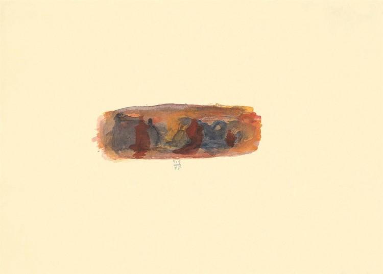 A.L.V.N., 1995, akvarel / watercolour / Aquarell, 32,5 x 45 cm