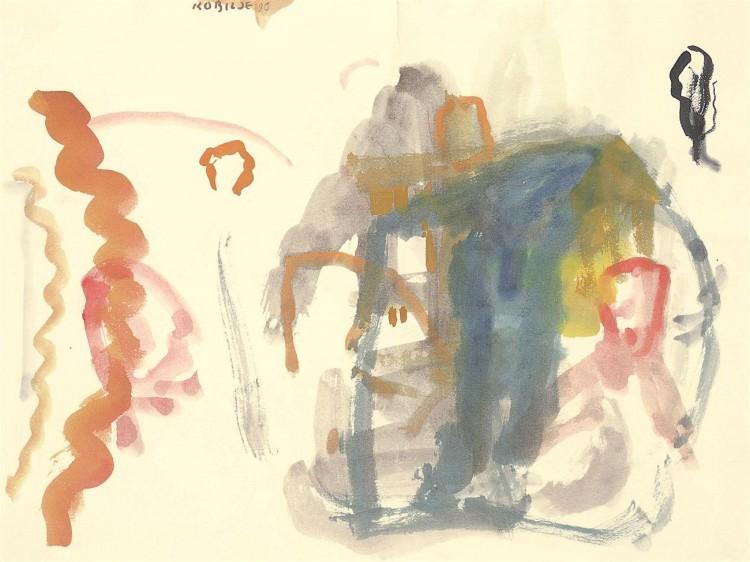 Kobilje; 1996; akvarel / watercolour / Aquarell; 49,5 x 67 cm