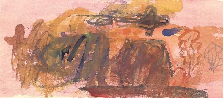 Kobilje, 1997, akvarel/ watercolour / Aquarell, 13,5 x 30,5 cm