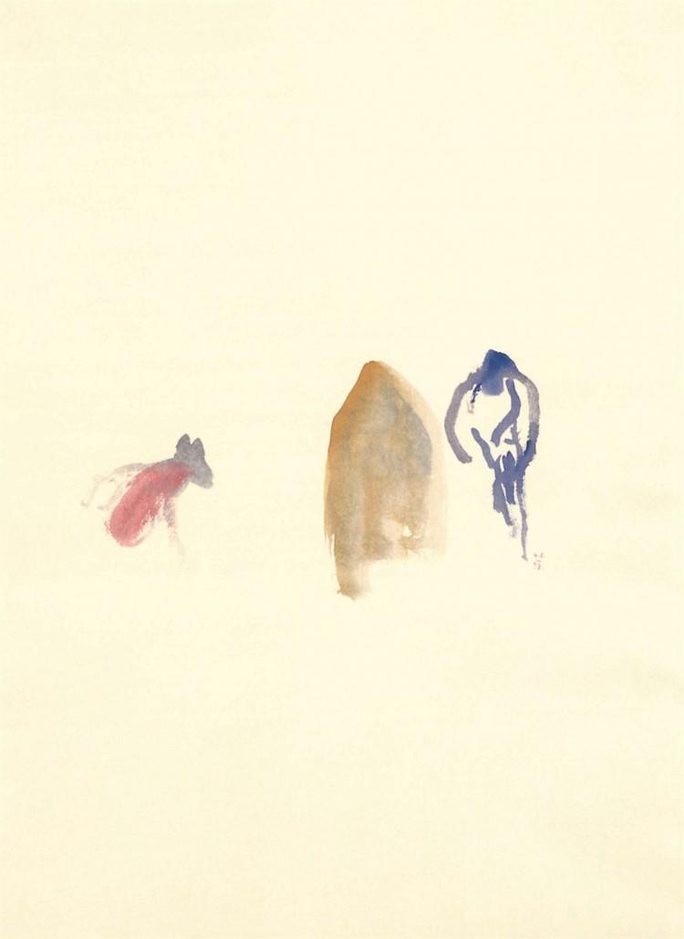 Nostalgije / Nostalgias / Nostalgien, 1997, akvarel / watercolour / Aquarell, 67 x 49 cm