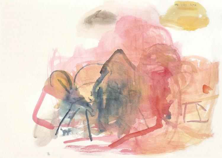Nostalgije / Nostalgias / Nostalgien, 1997, akvarel / watercolour / Aquarell, 57 x 80 cm