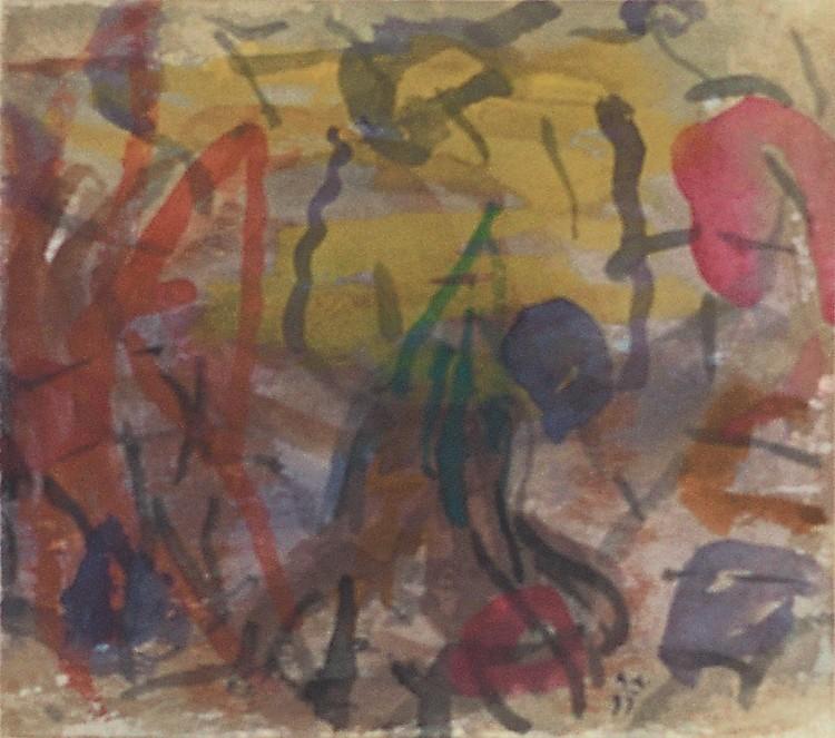 Pesmi za Nico / Songs for Nico / Lieder für Nico, 1997, akvarel / watercolour / Aquarell, 13,5 x 15 cm