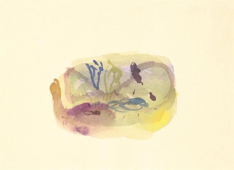 Kobilje, 1997, akvarel / watercolour / Aquarell, 24 x 34 cm