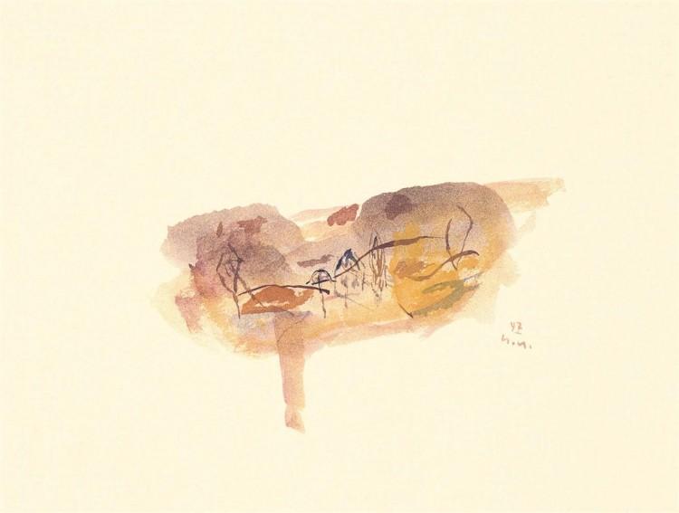 Kobilje, 1997, akvarel / watercolour / Aquarell, 25 x 33 cm