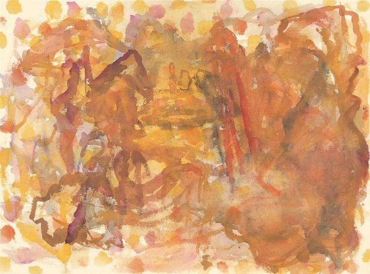 Krajina / Landscape / Landschaft, 1998, akvarel / watercolour / Aquarell, 56,5 x 77 cm