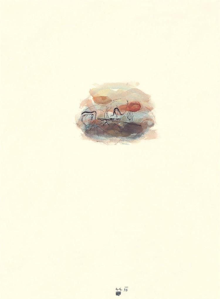 Kobilje, 1998, akvarel / watercolour / Aquarell, 67,5 x 50,5 cm