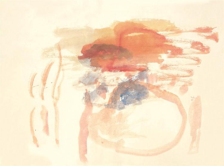 Krajina / Landscape / Landschaft, 1999, akvarel / watercolour / Aquarell, 50 x 67 cm