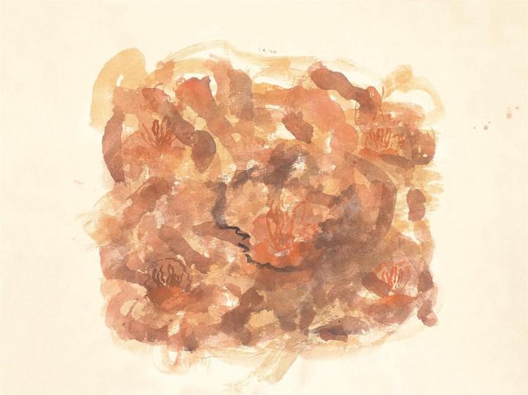 Krajina / Landscape / Landschaft, 2000, akvarel / watercolour / Aquarell, 50 x 67,5 cm