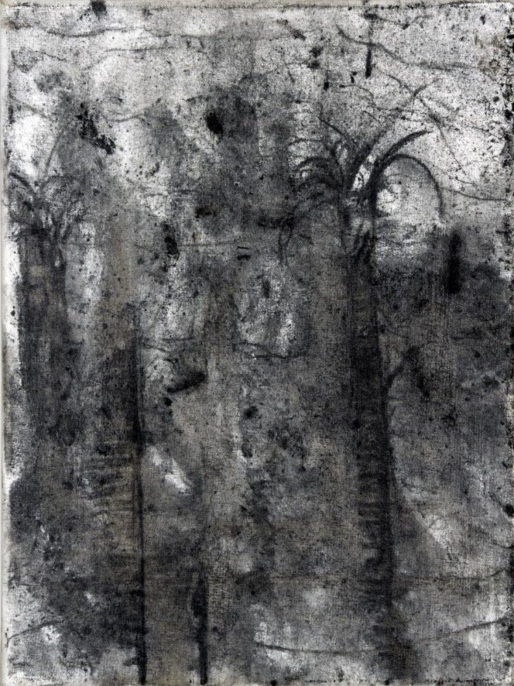 Fordlandija, 2019, oglje na platno, 24x18 cm