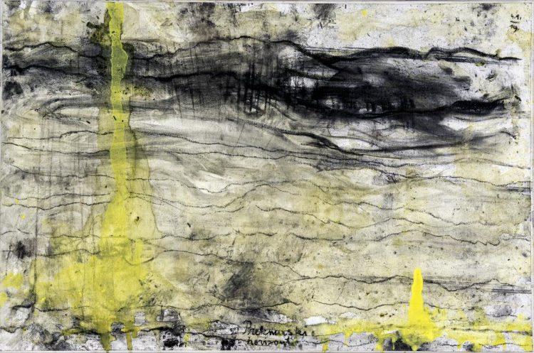 Prekmurski horizonti, 2019, mešana teh.na platno, 40x60 cm