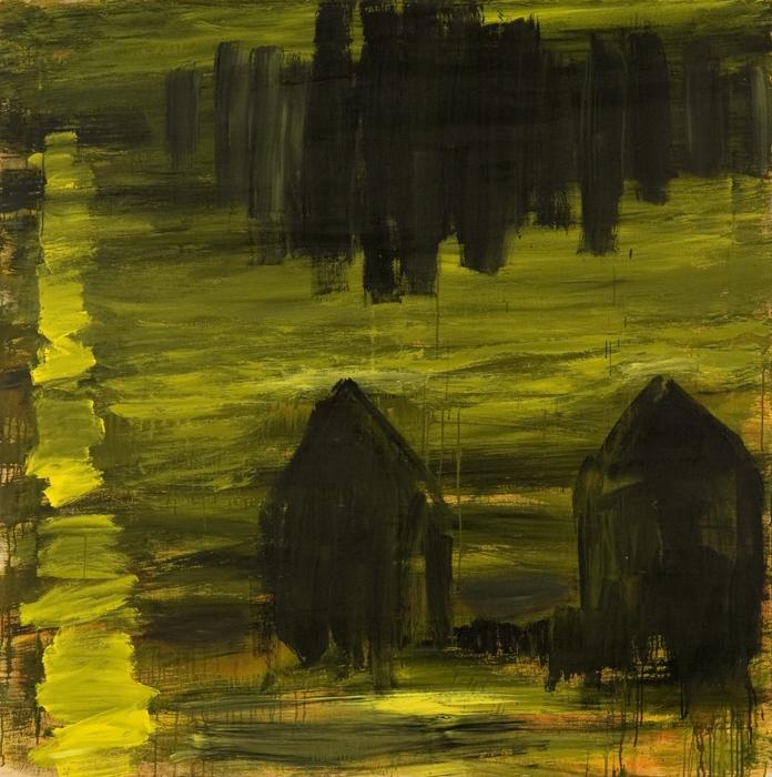 Sigur Ros; 2009; akril, platno / acrylic, canvas / Acryl, Leinwand; 180 x 180 cm