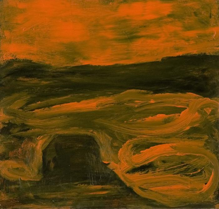 Sigur Ros; 2009; grafit, akril, les / graphite, acrylic, wood / Grafit, Acryl, Holz; 47 x 49 cm