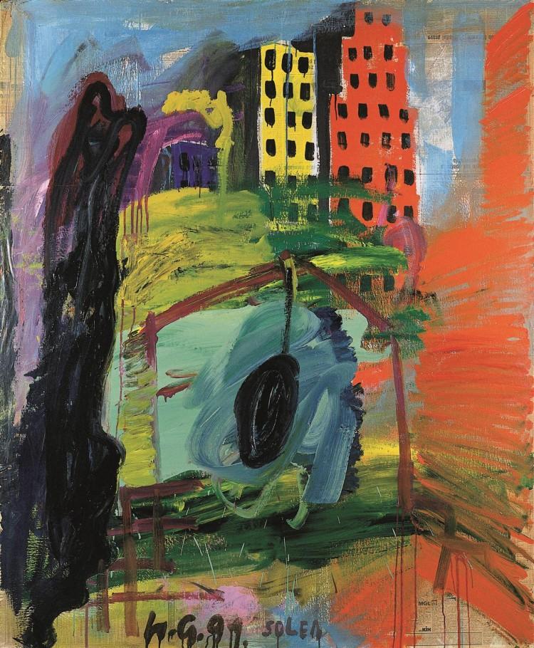 Solea II, 1991, akril, platno / acrylic, canvas / Acryl, Leinwand, 200 x 166 cm