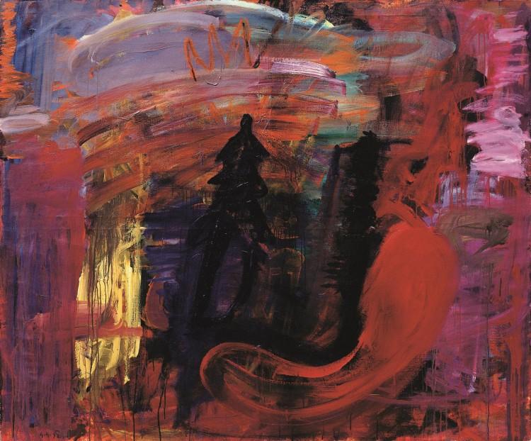 Krajina / Landscape / Landschaft, 1991, akril, platno / acrylic, canvas / Acryl, Leinwand, 166 x 201 cm