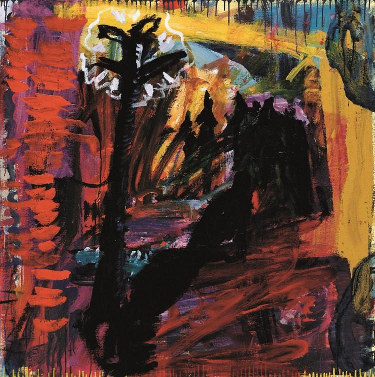 Elegija / Elegy / Elegie, 1992 – 1994, akril, platno / acrylic, canvas / Acryl, Leinwand, 150 x 150 cm