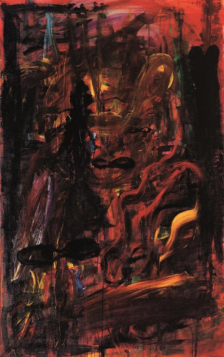Krajina / Landscape / Landschaft, 1992, akril, platno / acrylic, canvas / Acryl, Leinwand, 200 x 125 cm