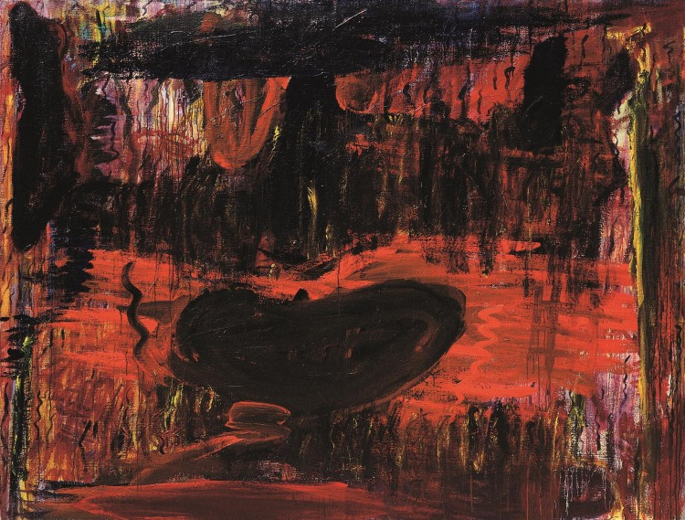 Krajina / Landscape / Landschaft, 1993, akril, platno / acrylic, canvas / Acryl, Leinwand, 201 x 272 cm