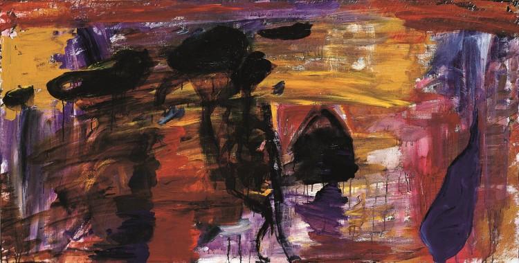 D. S. M. O., 1994, akril, platno / acrylic, canvas / Acryl, Leinwand, 90 x 180 cm