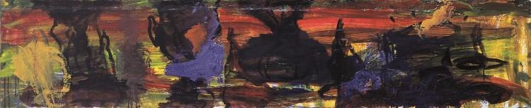 Slika za umorjeno Tino R. / Painting for Murdered Tina R. / Bild für ermordene Tina R. , 1994, akril, platno / acrylic, canvas / Acryl, Leinwand, 40 x 195 cm