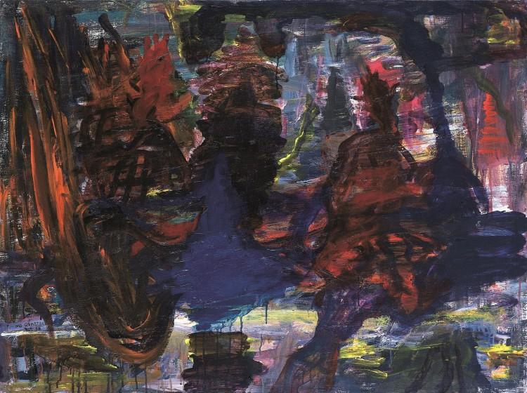 No Quarter, 1994, akril, platno / acrylic, canvas / Acryl, Leinwand, 90 x 120 cm