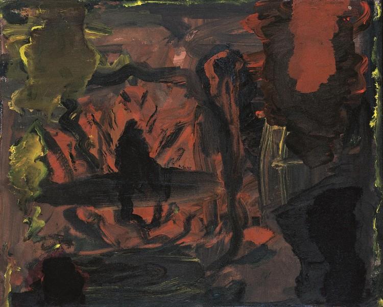 A. L. V. N., 1995, akril, platno / acrylic, canvas / Acryl, Leinwand, 40 x 50 cm