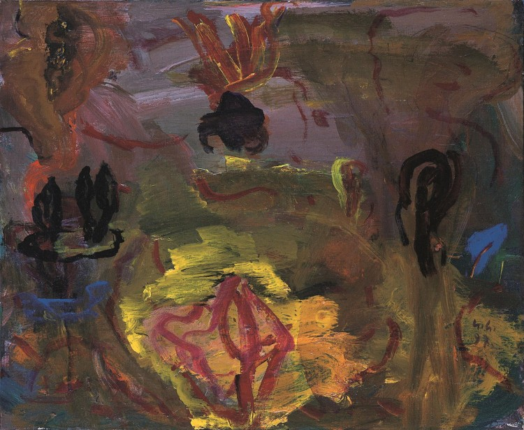 Krajina / Landscape / Landschaft, 1997, akril, platno / acrylic, canvas / Acryl, Leinwand, 36 x 43 cm