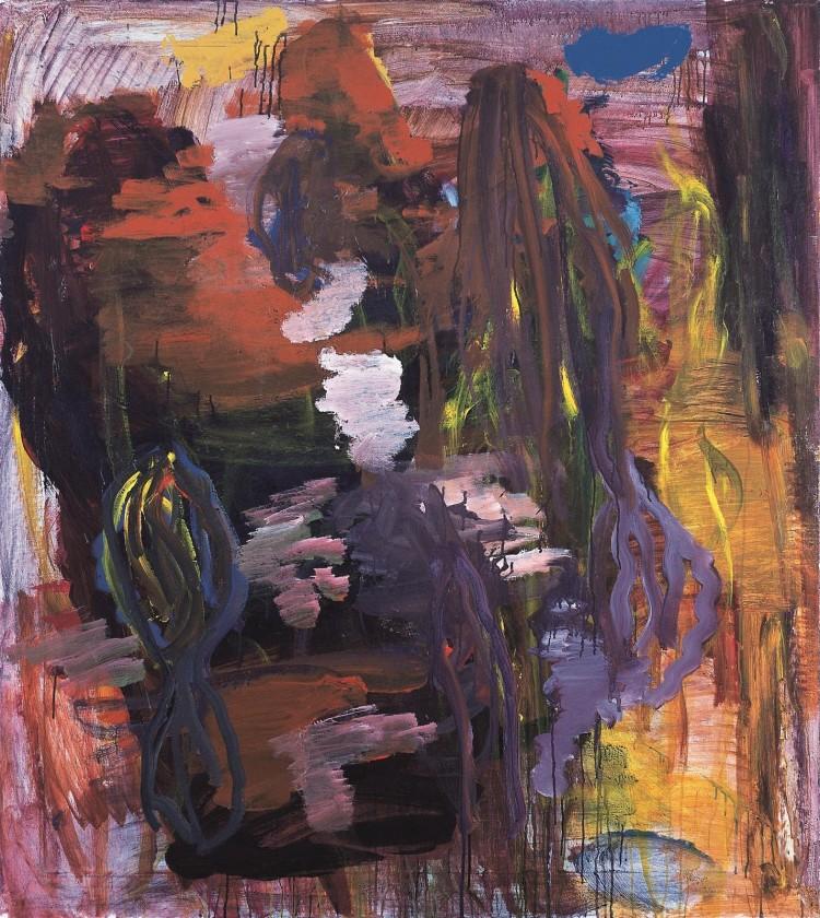 Krajina / Landscape / Landschaft, 1997, akril, platno / acrylic, canvas / Acryl, Leinwand, 155 x 140 cm