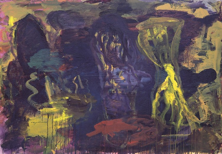 Pesmi za Nico (It was a pleasure then) / Songs for Nico (It was a pleasure then) / Lieder für Nico (It was a pleasure then), 1997, akril, platno / acrylic, canvas / Acryl, Leinwand, 140 x 200 cm