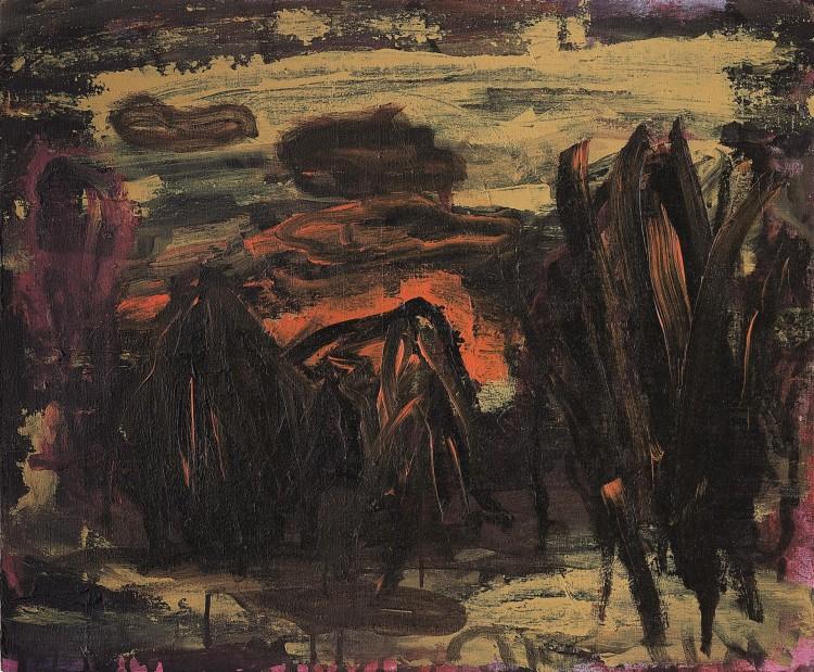 Krajina / Landscape / Landschaft, 1997, akril, platno / acrylic, canvas / Acryl, Leinwand, 57 x 68 cm